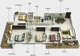 floor plan in 3d mounthill fussion in rajarhat kolkata price location map