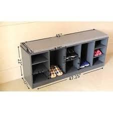 wooden shoe storage bench
