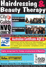 hairstylist classes roots hair and beauty salon academy sri lanka hair stylists