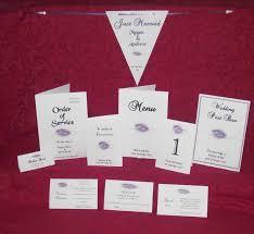 Wedding Invitation Folded Card Invitation Stationery Personalised Printed Heart Diamonte Design