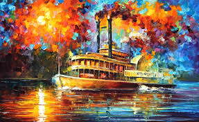 New Orleans Wall Decor New Orleans River U2014 Palette Knife Oil Painting On Canvas By Leonid
