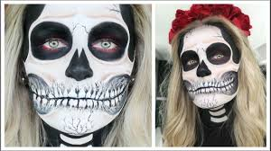 ben nye halloween makeup spooky skull halloween makeup sfx free tutorial sally jo youtube