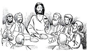 the last supper coloring page jesus christ coloring printable page