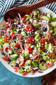 best salad recipes best greek salad easy ingredients cooking classy