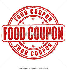 food coupons food coupon grunge rubber st on stock vector 192153341