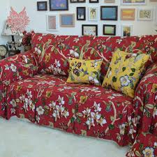 Floral Print Sofas Furniture Lovely Red And White Floral Sofa Design Red White