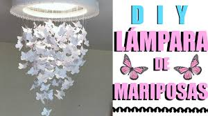Youtube Chandelier Diy Lampara De Mariposas Diy Butterfly Chandelier Youtube