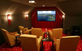 movie theater themed home decor movie room movie room decor with bold red accent which furnished