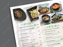 basil thai kitchen design and layout of menu print pinterest