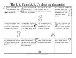 how to find a classmate the 1 2 3 s and a b c s activities school and classroom freebies