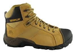 caterpillar cat argon hi side zip mens steel toe work safety boots