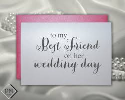wedding gift note wedding card to best friend bridal shower cards bestie engagement