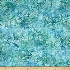 teal roses wilmington batiks roses teal discount designer fabric fabric