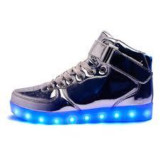 high top light up shoes amazon com annabelz led shoes high top light up shoes bling