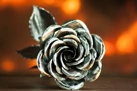 metal roses handcrafted steel