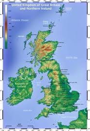 I 35 Map Topographical Map Of The British Isles Islas Británicas