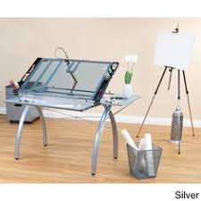 Rolling Drafting Table Studio Designs Vision Silver Blue Glass Rolling Drafting And Hobby