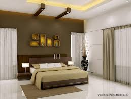 Ravishing Brown Bedroom Wall Design With Magnificent Modern Bed