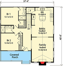 Vacation Cottage Floor Plans Vacation Cottage Or Retirement Plan 22080sl Architectural