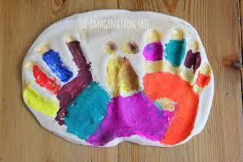 Homemade Christmas Tree Decorations Dough Baby Hand And Foot Prints From Salt Dough The Imagination Tree