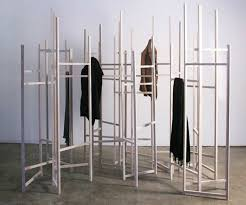 Modular Room Divider Craig S Skeletal Coat Rack Turns Into A Room Divider As