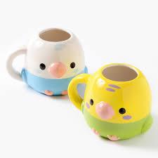 Heart Shaped Mug by Kotori Tai Bird Die Cut Mugs Tokyo Otaku Mode Shop