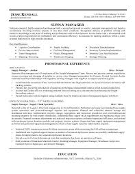 resume sample for logistic manager professional resumes example