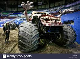 monster truck race track vancouver canada 7th apr 2017 a resident visits a monster