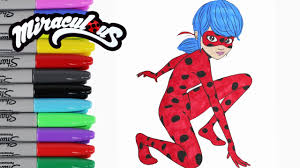 miraculous ladybug coloring book pages videos kids art toy