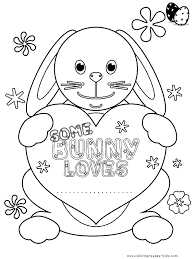 easter color picture coloring pages for kids holiday