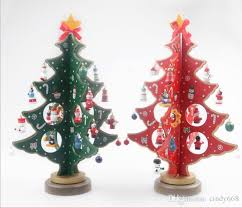wooden xmas tree ornaments for home table decor exquisite