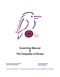 coaching u0026 etiquettte manual by queensland bowler issuu
