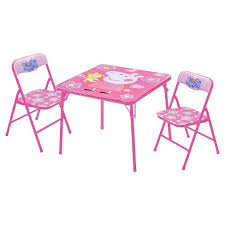 childrens table and chairs target peppa pig 3 piece kids table and chair set target