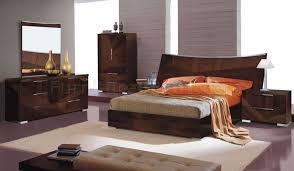 Oversized Bedroom Furniture Cherry High Gloss Bedroom Set W Oversized Headboard Cindi Bed