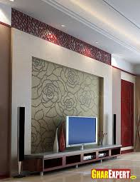 home design lcd unit with wall decor gharexpert marvelous walls