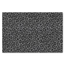 leopard print tissue paper gray and black leopard animal print tissue paper zazzle