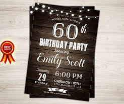 sample invitation for 60th birthday party gallery invitation
