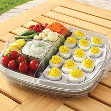 deviled egg serving tray large square cool serve shop pered chef us site