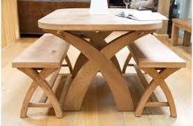 natural wood dining room sets amazing unique brown varnished wooden dining table leaf shaped