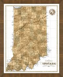 Old Map Old Map Of Indiana U2013 A Great Framed Map That U0027s Ready To Hang