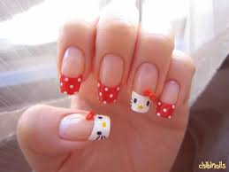 31 best hello kitty nails images on pinterest hello kitty nails