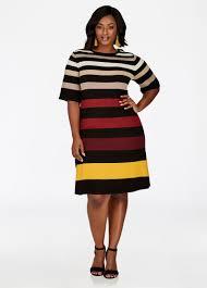 dashiki sweater plus size dress striped sweater dress