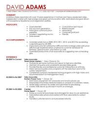 Sample Resume Of Sales Associate by Appealing Sample Resume For Sales Associate And Customer Service