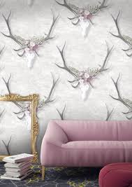 stag head designs designer stag head wallpaper by woodchip u0026 magnolia