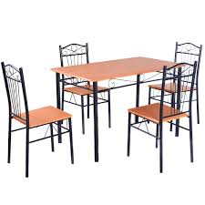 Outdoor Table And Chair Steel Frame Dining Set Table And Chairs Kitchen U0026 Dining