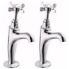 Deva Coronation Bs Chrome High Neck Kitchen Sink Pillar Taps - Kitchen sink pillar taps
