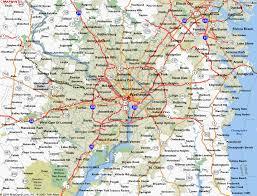 washington dc region map map of washington dc