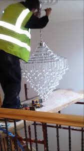How High To Hang Chandelier How To Install A Large Chandelier In A High Ceiling By Integrated