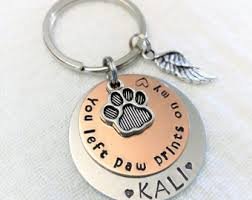remembrance keychain pet loss keychain etsy