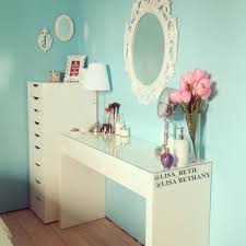 bedroom appealing white vanity set ikea with drawers and sweet